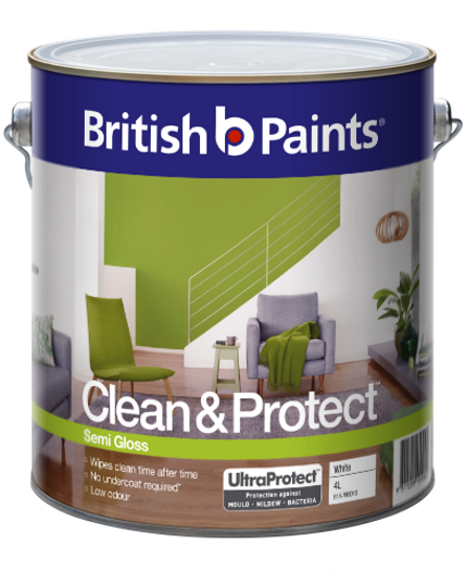 British Paints Clean And Protect Semi Gloss