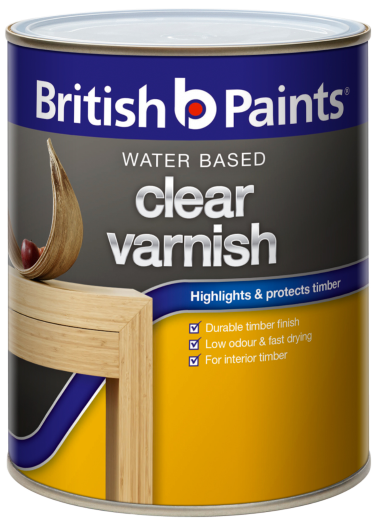 British Paints Water Based Clear Varnish British Paints