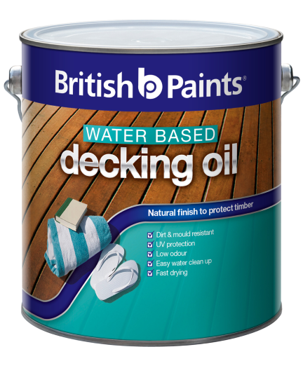 British paints water based decking oil british paints for Exterior water based paint