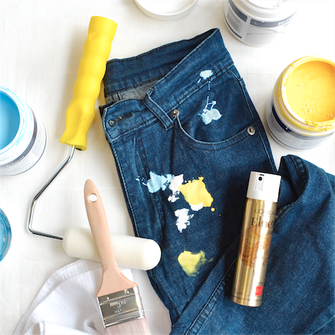 tips howto and advice how to remove dried paint on your clothes