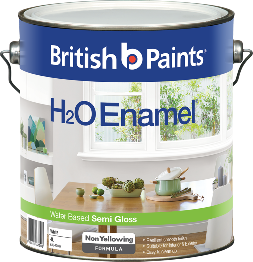 British Paints H2O Enamel Semi Gloss