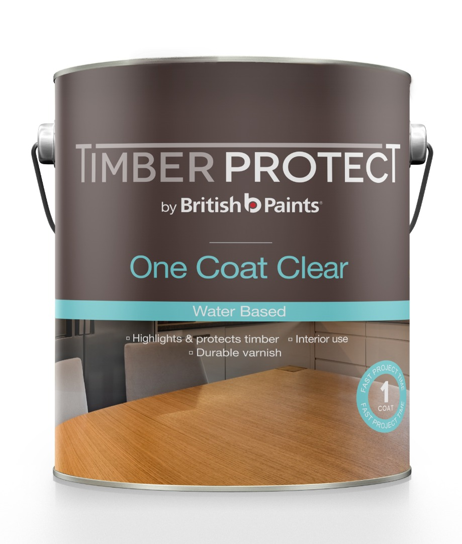 Timber Protect One Coat Clear Water Based - British Paints