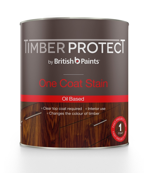 Timber protect one coat stain british paints - Best one coat coverage interior paint ...