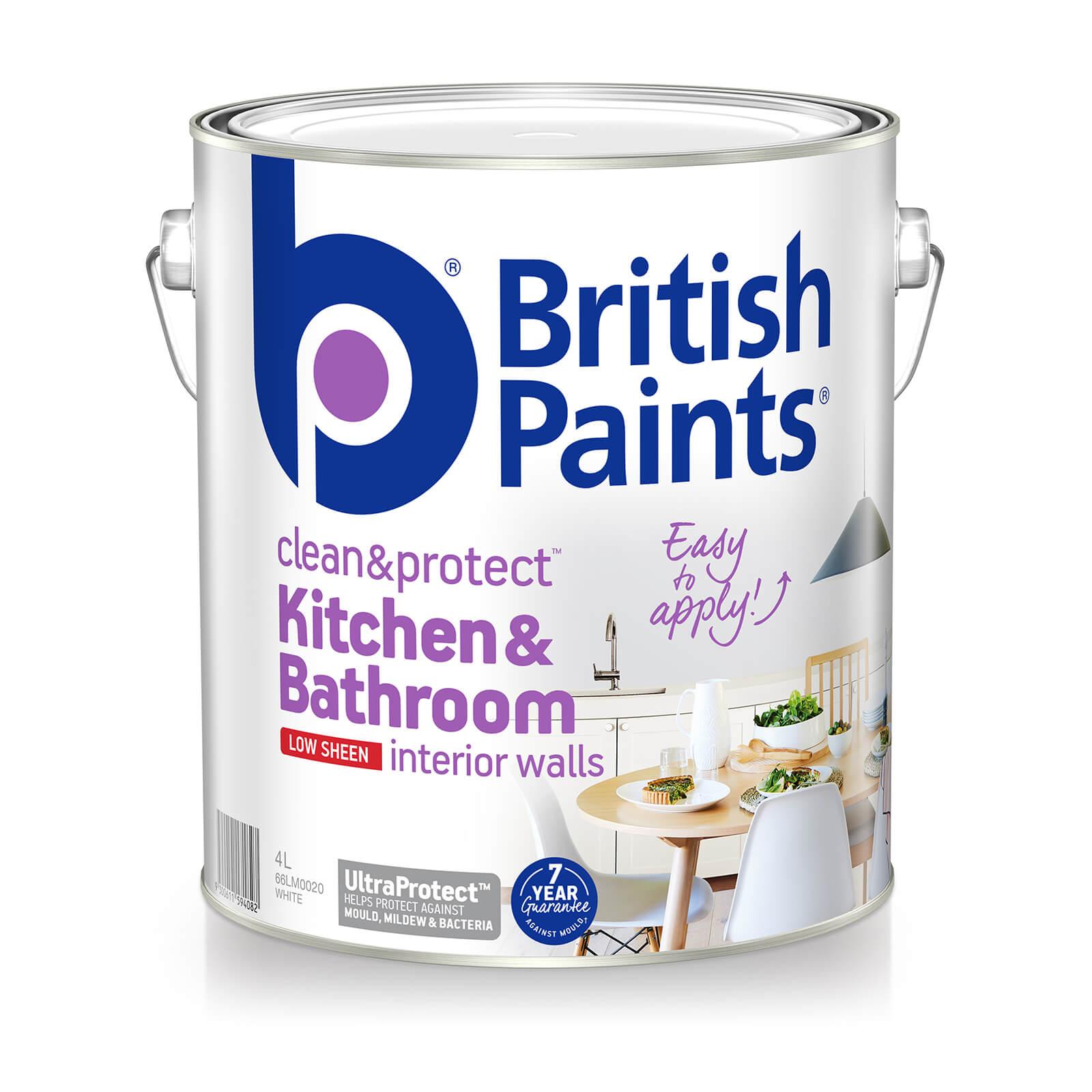 British Paints Clean Protect Kitchen Bathroom British Paints